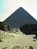 Western Cemetery: Site: Giza; View: Khufu pyramid