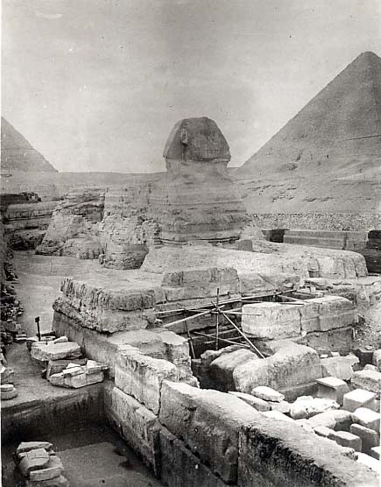 Sphinx/Sphinx temple: Site: Giza; View: Sphinx; Sphinx Temple