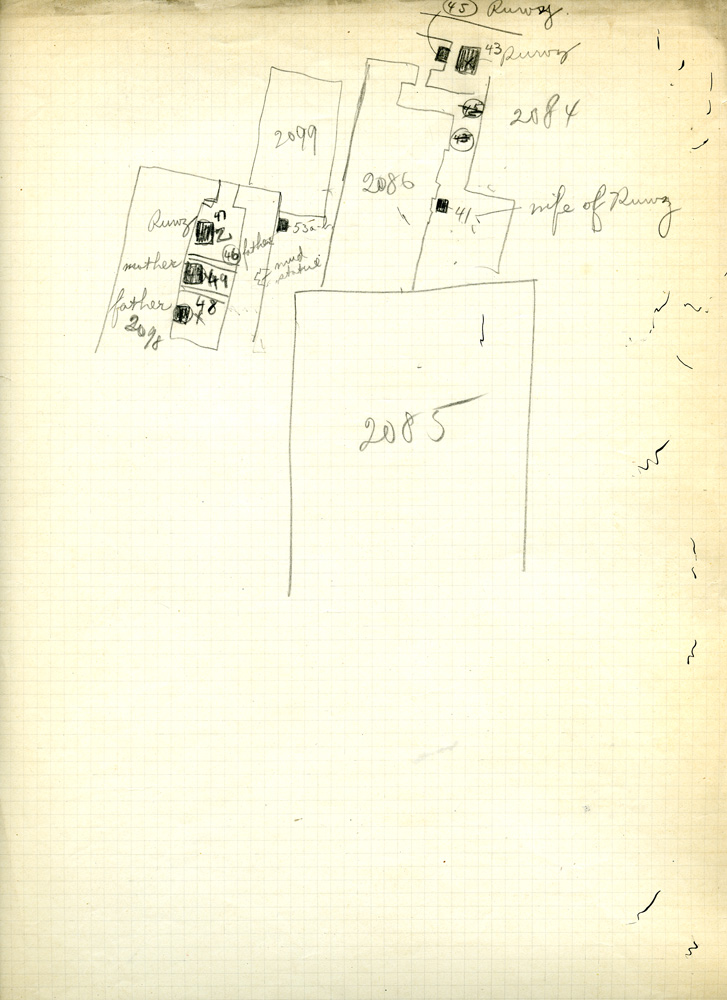 Maps and plans: Sketch plan of G 3084, G 3085, G 3086, G  G 3098, G 3099