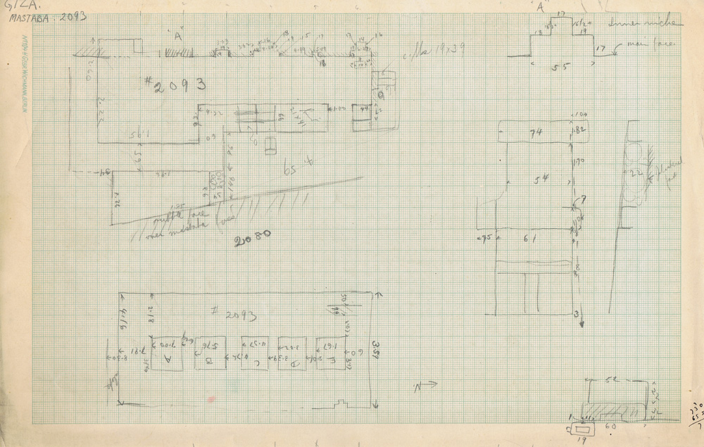 Maps and plans: Sketch plans and section of G 3093