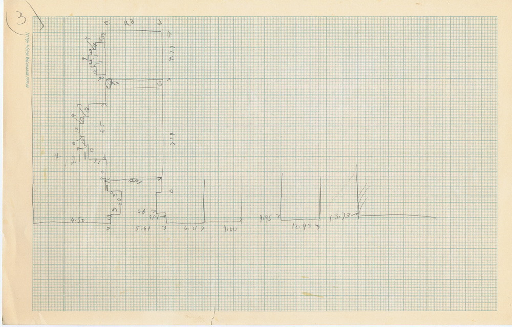 Maps and plans: Sketch plan of unidentified tomb