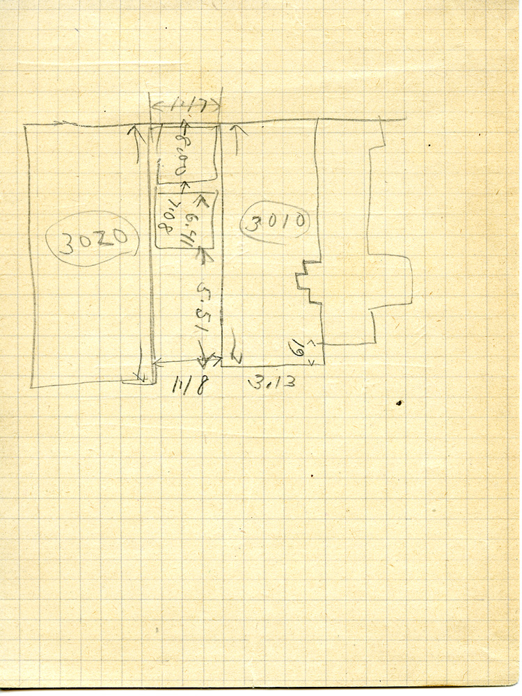 Maps and plans: Sketch plan of G 3010, G 3020