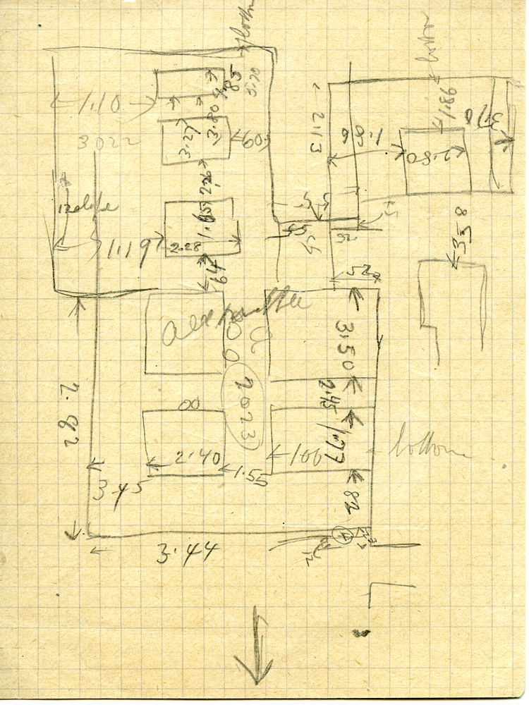 Maps and plans: Sketch plan of G 3022, G 3023