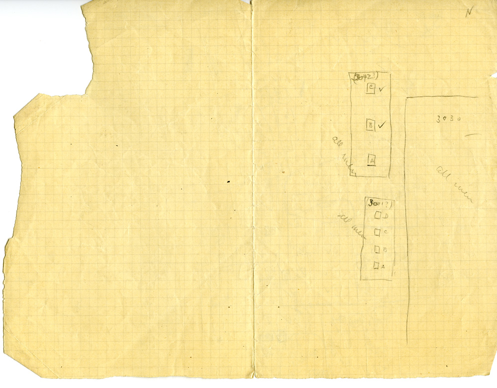 Maps and plans: Sketch plan of G 3030, G 3042, G 3041