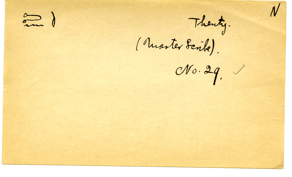 Notes: Giza Minor Cemetery name card: Tjenti (G 3035)