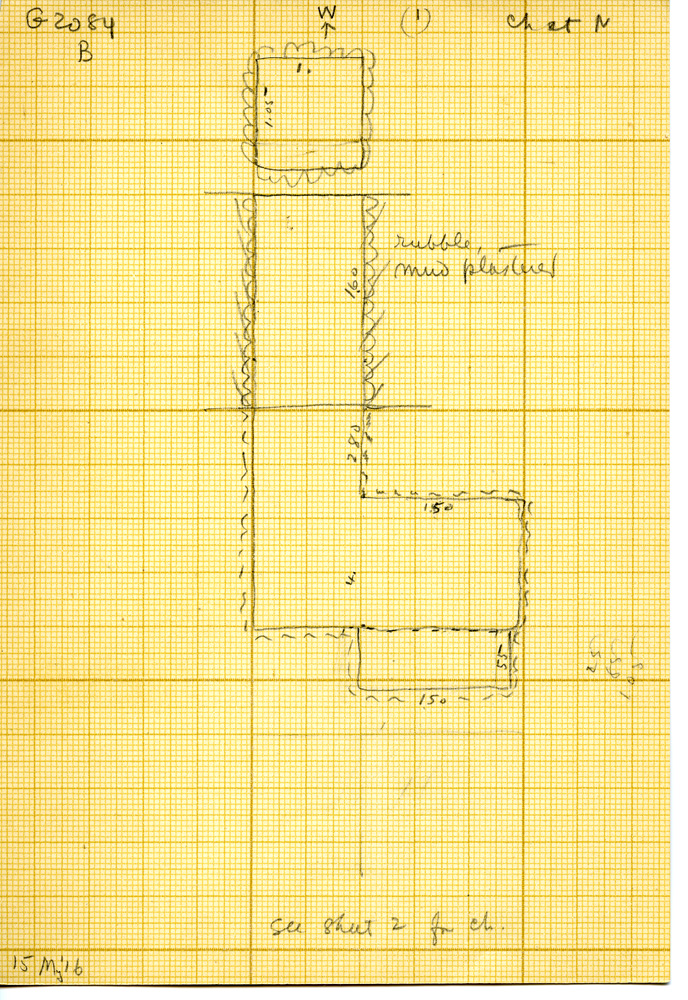 Maps and plans: G 3084, Shaft B