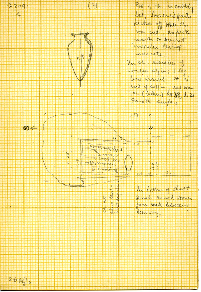 Maps and plans: G 3091, Shaft A