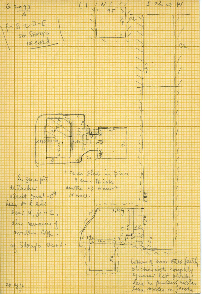 Maps and plans: G 3093, Shaft A, Chamber I