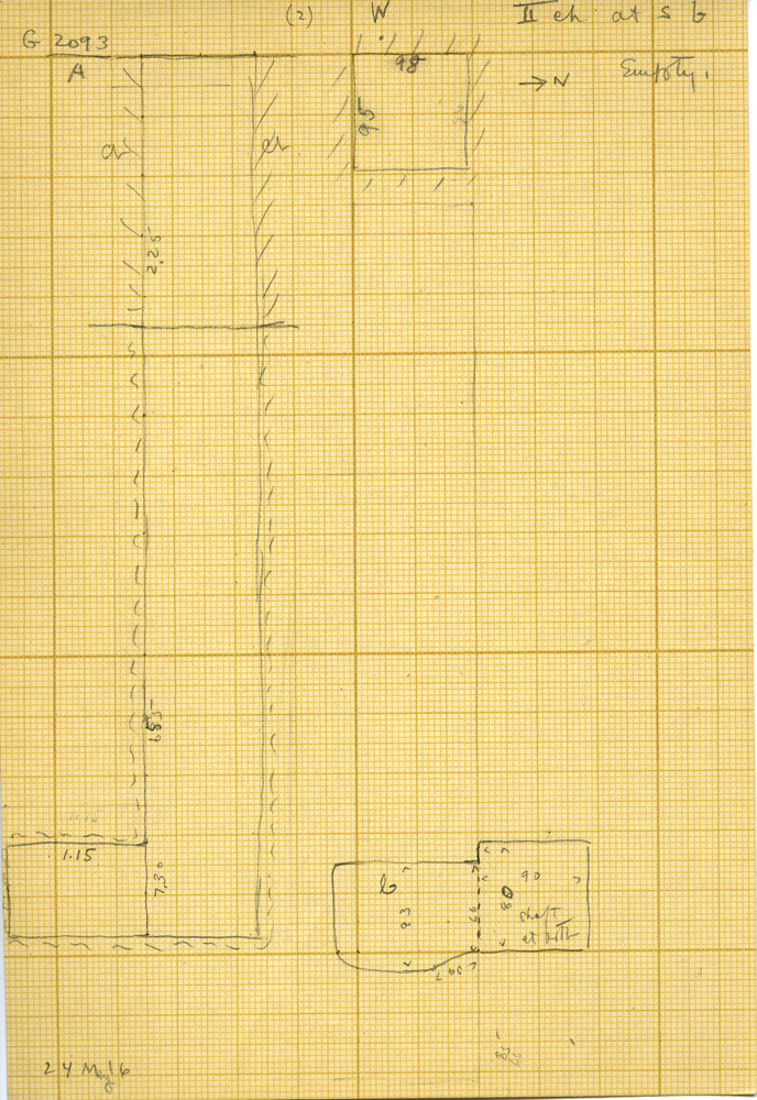Maps and plans: G 3093, Shaft A, Chamber II