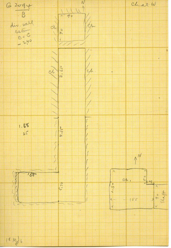 Maps and plans: G 3094, Shaft B