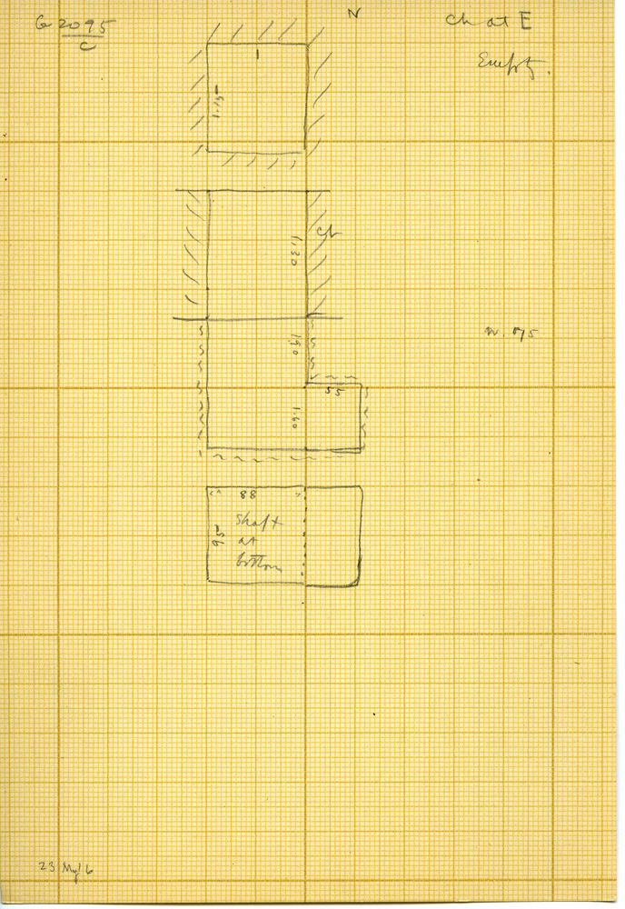 Maps and plans: G 3095, Shaft C