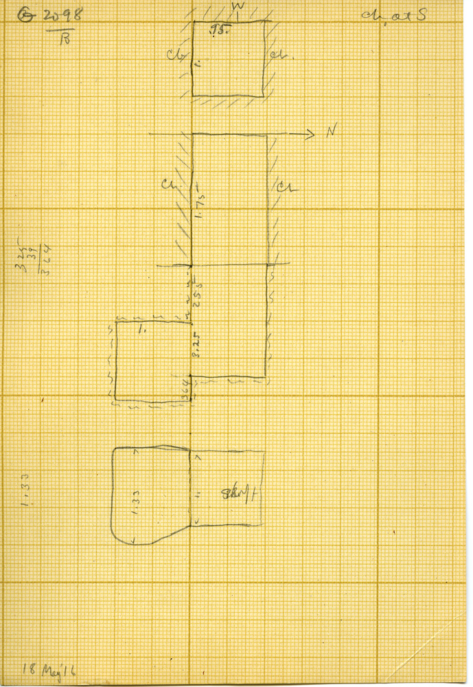 Maps and plans: G 3098, Shaft B