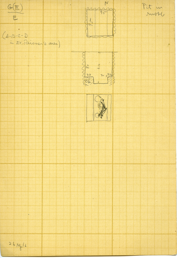 Maps and plans: Unknown Tomb, Shaft E