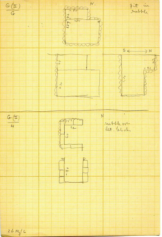 Maps and plans: Unknown Tomb, Shafts G, H
