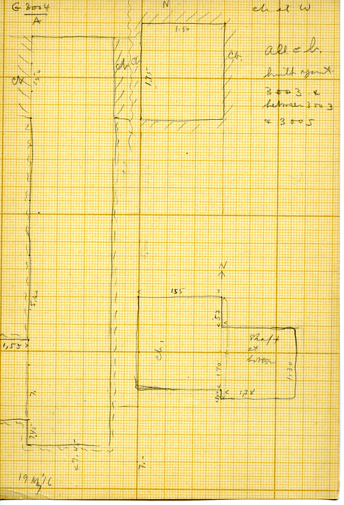 Maps and plans: G 3004, Shaft A