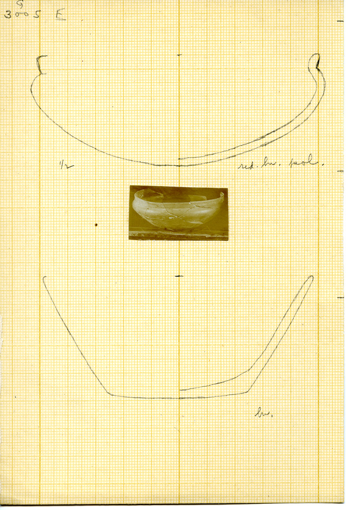 Drawings: G 3005: pottery bowls