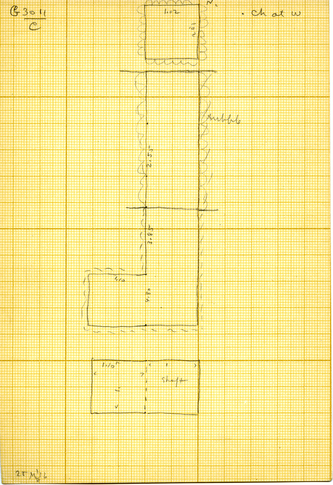 Maps and plans: G 3011, Shaft C
