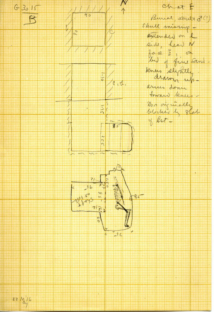 Maps and plans: G 3015, Shaft B
