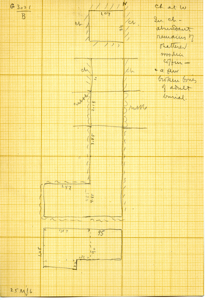 Maps and plans: G 3021, Shaft B