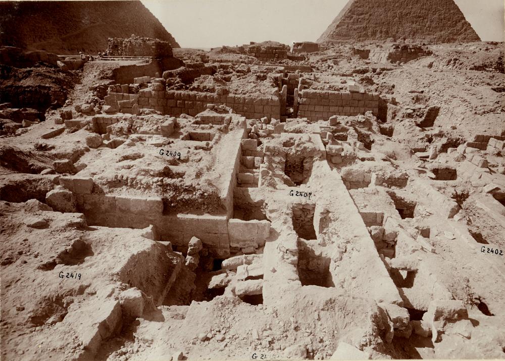 Western Cemetery: Site: Giza; View: G 2407, G 2402, G 2409, G 2360, G 2353, G 2419