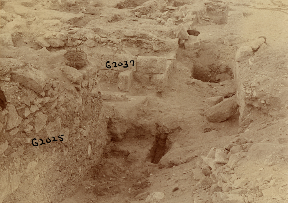 Western Cemetery: Site: Giza; View: G 2037, G 2025